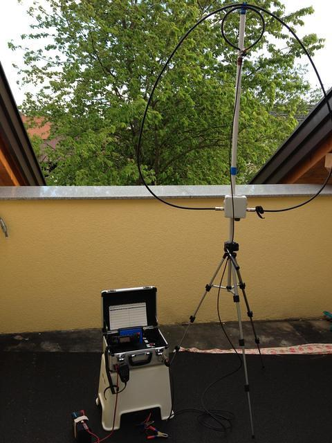 Showing portable Loop Antenna