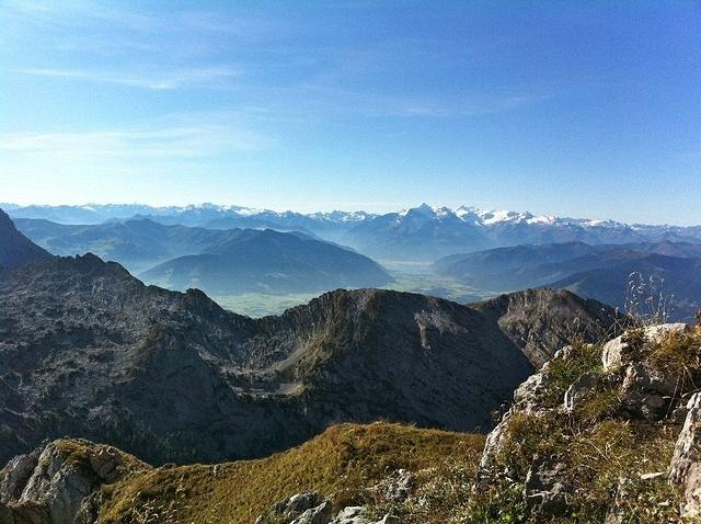 from the summit - view to Zell am See